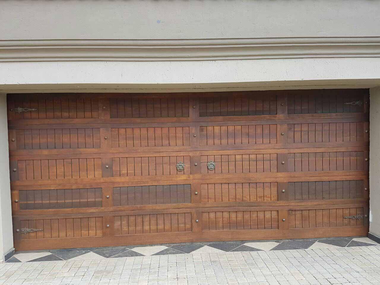 960 #8B5E40 Doors Single 20 Panel Door Single Slatted Doors Steel White Lux A Door  save image Garage Doors Brands 38471280