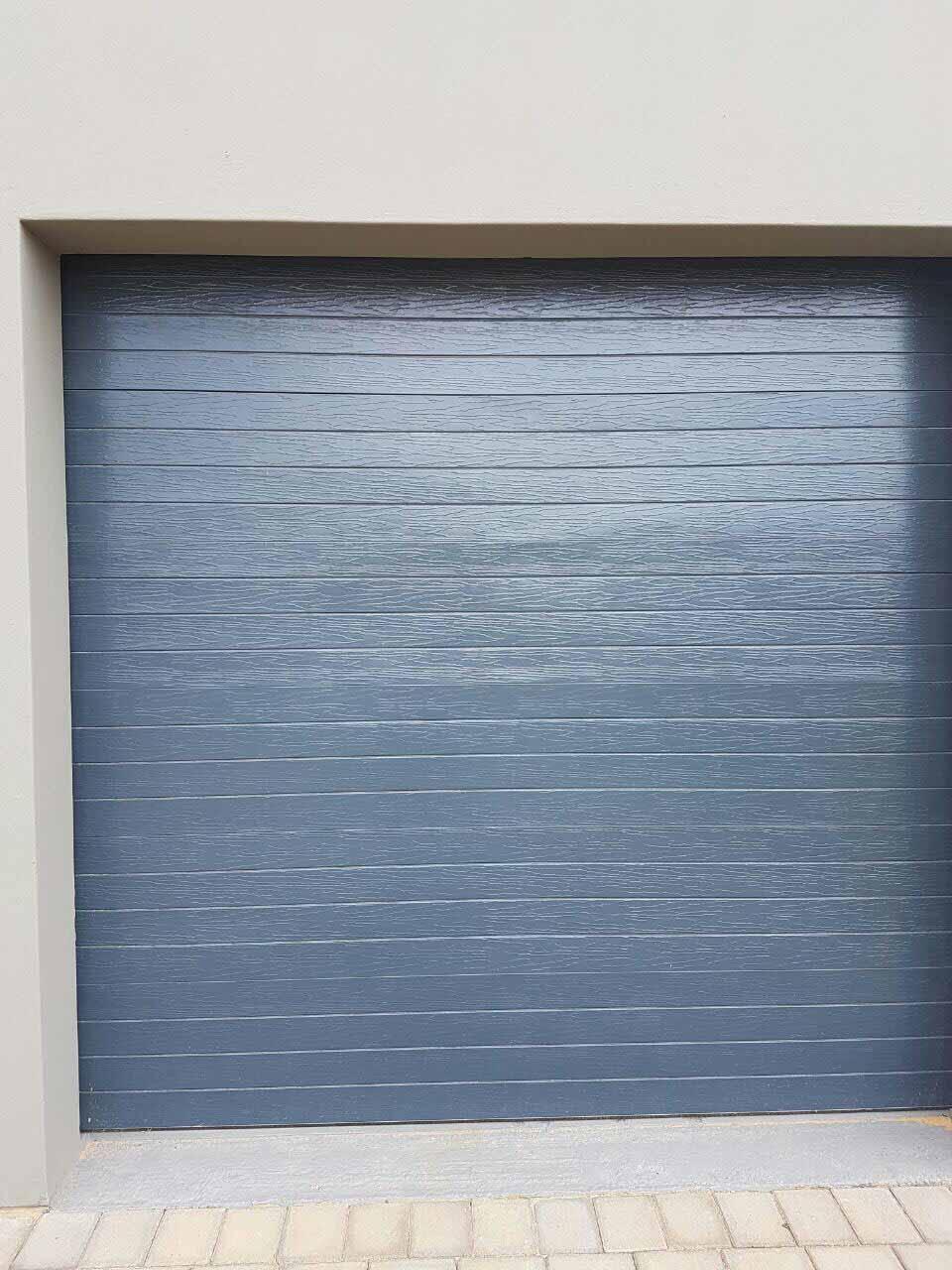 Single Slatted Charcoal Chromadek Door