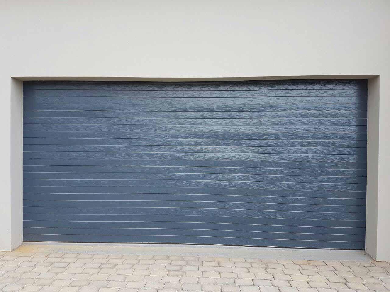 Double Slatted Charcoal Chromadek Door