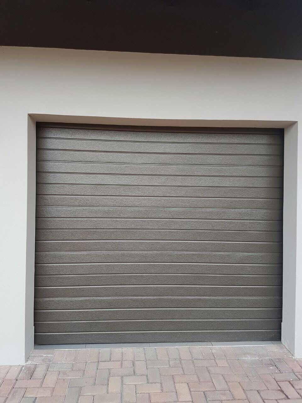 Single Bronze Slatted Chromadek Door