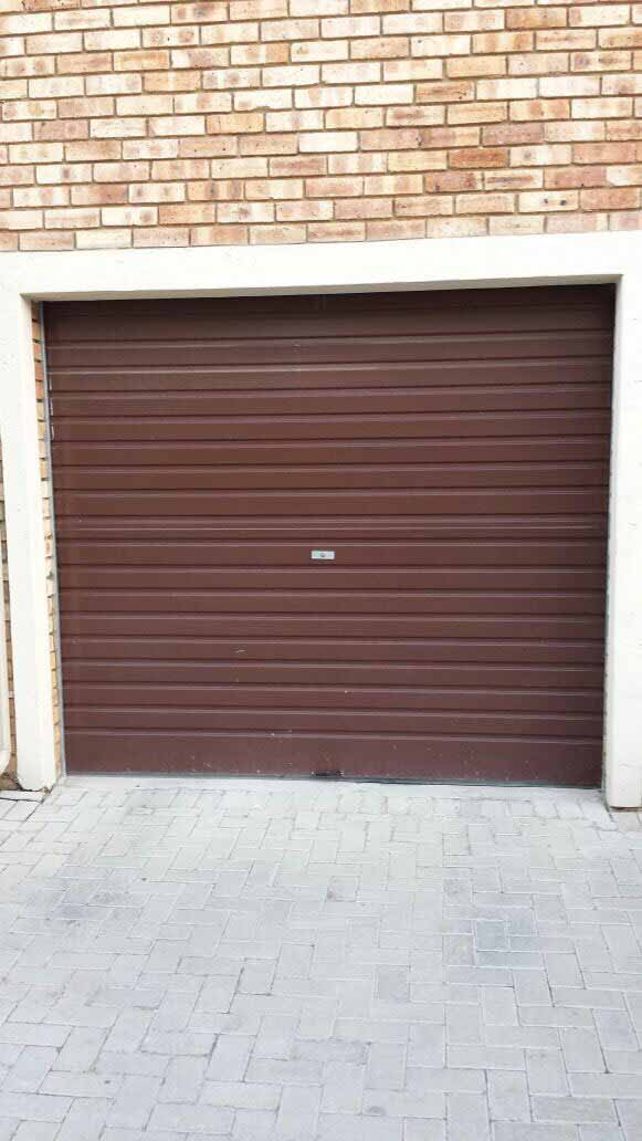 Single Brown Roller Door