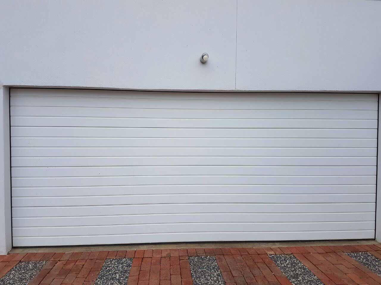 Double White Aluminium Door