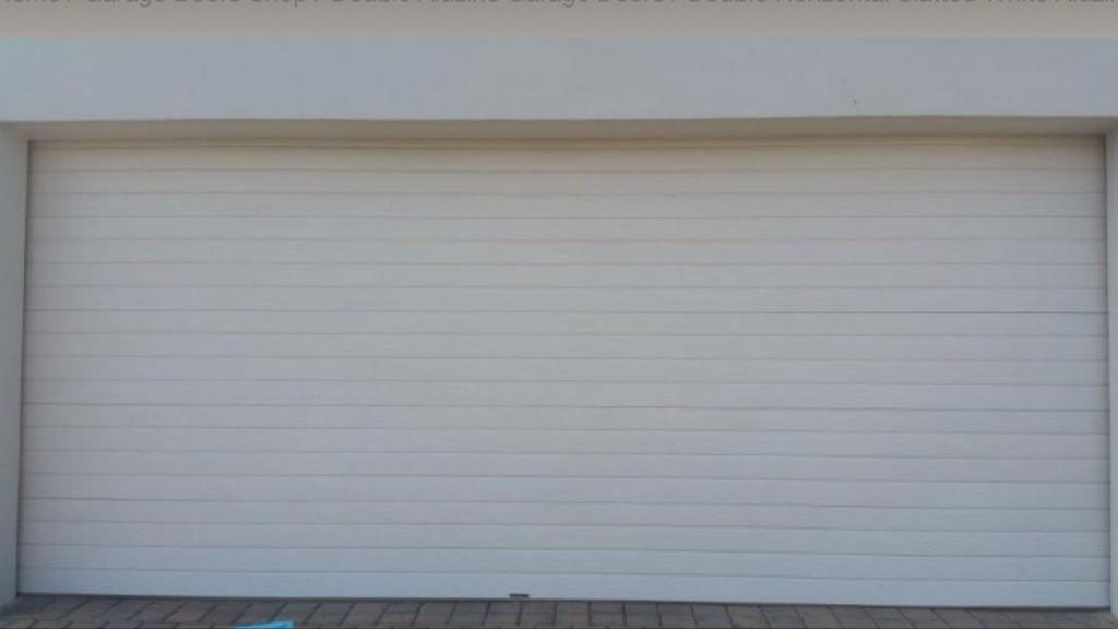 Double Slatted White Chromadek Door