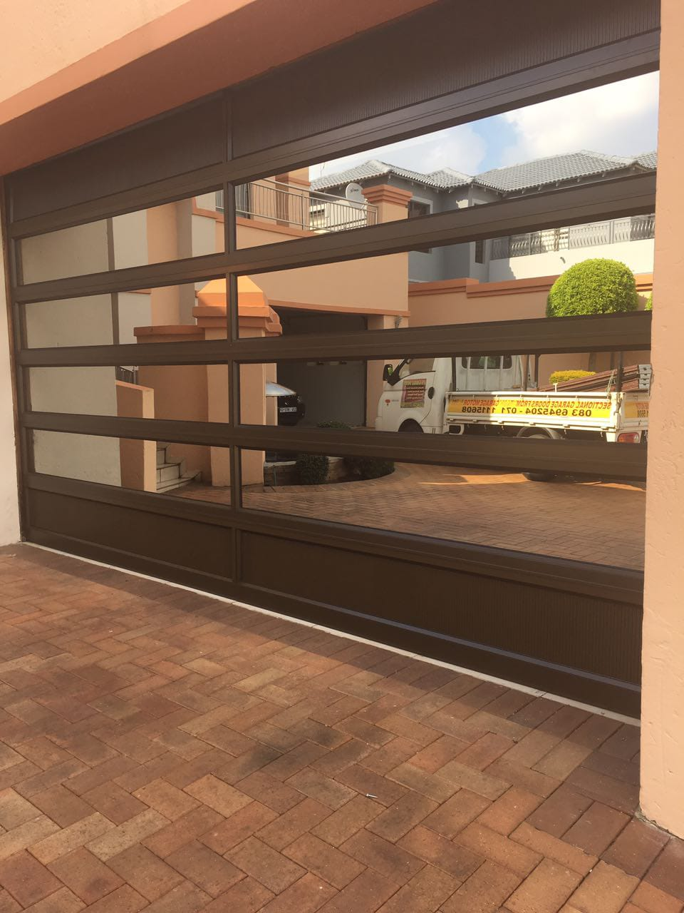 Double Glass Aluminium 10 Panel Insert Door