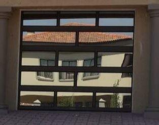 Single Glass Aluminium Brick Door