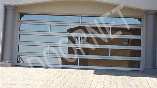 Double Silver Aluminium & Glass Inserts Door