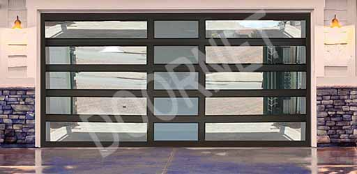 Double Mixed Insert Aluminium Glass Doors